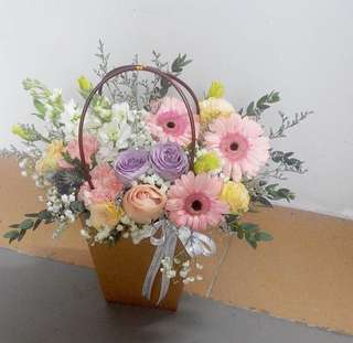 Shop opening bouquet / get well soon flowers / Roses and Gerberas for Birthday Centerpieces