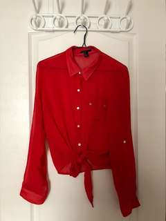 Forever 21 red cover up