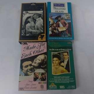 懷舊電影錄影帶4盒
