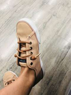 SPERRY leather tan nude beige sneakers