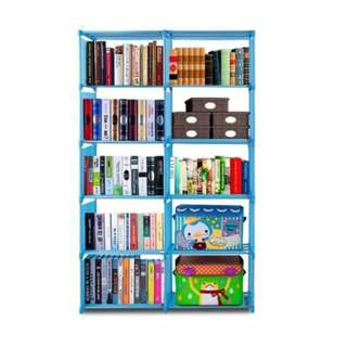 Bookcase Storage Bookshelf with 10 Book Shelves