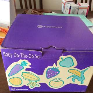 Tupperware baby on the go set