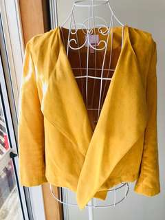 Mustard Yellow Suede Dress jacket. New. size 12