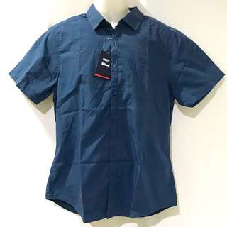 Teal Blue Short Sleeves Polo