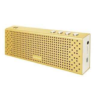 Uchoir Youla Z8 - T 385 HI - FI Bluetooth Speaker Portable Model Cube dengan lapisan Aluminium warna Gold