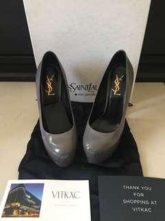 YSL Saint laurent tribute pumps heels grey size 37