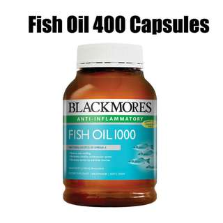 Blackmores Fish Oil 400 Cap Omega 3 EPA DHA Free Ship Direct from Australia