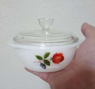 2 x Vintage Mini June Rose Casserole