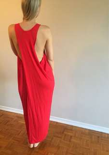 Red Dress w/ Back Detail