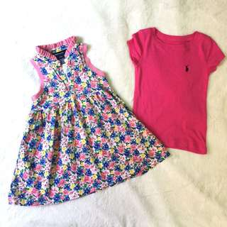 Ralph lauren baby dress & top
