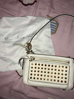 Authentic Michael Kors white bag