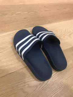 Adidas Slides (Navy/White)