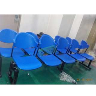 5 SEATER PVC GANG CHAIRS - BLUE COLOR