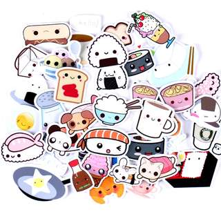 (PO) Cute Food Stickers