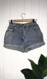 Vintage Quicksilver High-Waisted Denim Shorts