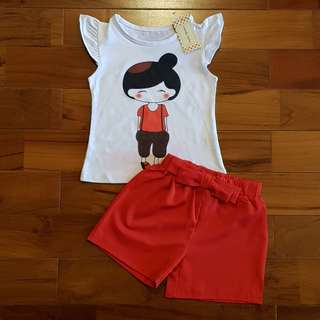 Little girl set merah (reject)
