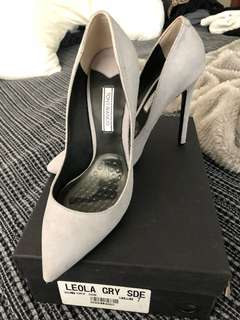 Tony Bianco Leola Grey Suede Heel