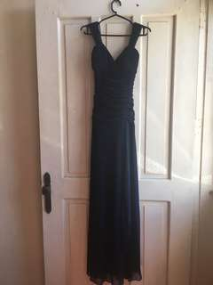 Verso Navy Blue Long/Formal Gown