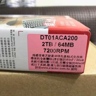 現貨HDD 東芝 Toshiba 2TB 64/mb 7200rpm DT01ACA200