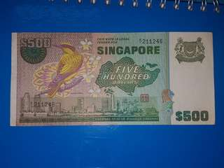 Sgd500 bird series old notes