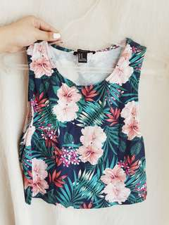 Forever 21 Floral Top (used once)