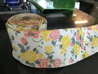 Floral paper ribbon