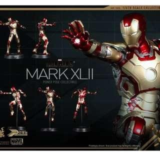 全新 Hottoys Ironman 3 Mark XLII 42 Power Pose 鐵甲奇俠,多谷