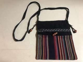 Ladies Fabric Sling Drawstring Pouch