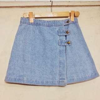 Overlap Denim Skirt / Korean Skirt