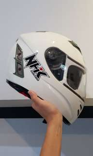 Helm Full Face NHK Terminator Solid White Size L