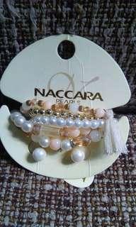 Naccara Pearls Earings & Bracelet's set
