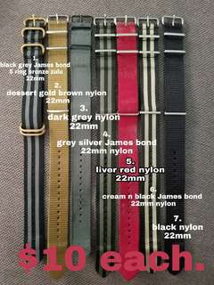 22mm Watch Straps