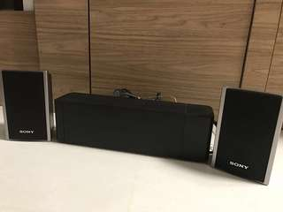 Sony SS-TS80 left & right surround speakers with amplifier