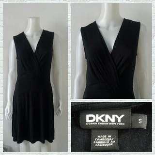Designer DKNY Black Office Dress