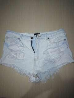 Forever 21 tattered shorts