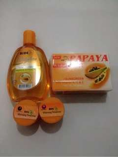 Paket Cream RDL 7day +Toner Babyface Extract Papaya RDL +Sabun Papaya RDL Original