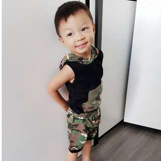 2 piece Baby Boy Army Print Set (Uo to 3YO)