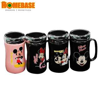HOMEbase Crystal Ceramic Cup Set - 4 PCS, Cute Mouse 300ML