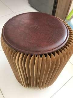 風琴式紙凳