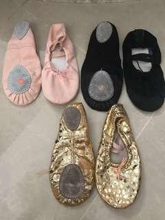三對共$30 size 30/32 女童 中國舞 芭蕾舞 技巧鞋 爵士舞 跳舞鞋