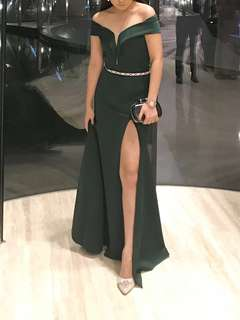 Emerald Green Gown for Sale (belt not included)