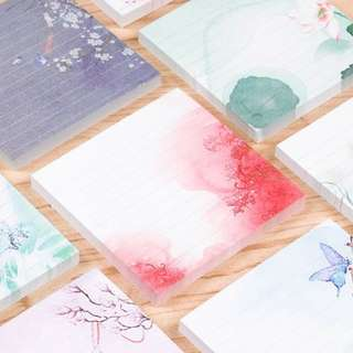 (PO) Square Nature Painting Post It Memo Pad