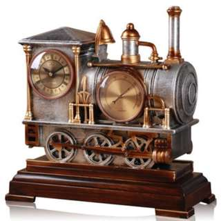 Vintage Steam Train Ornamental Clock