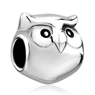 CharmsStory Owl Wisdom Lucky Animal Charm Beads Charmss For Bracelets (Style 1)