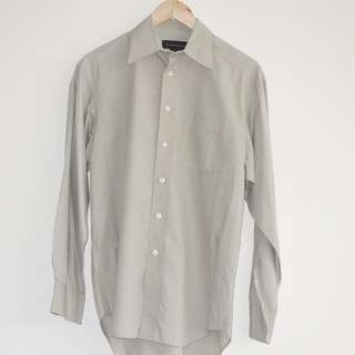 Bannana Republic Men's Shirt Gray Long