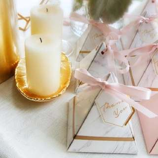 Marble Print Wedding Favours Thank You Box