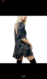Crew nvr floral printed dress. PO