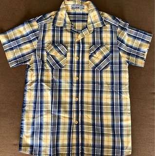 Yellow plaid polo for boys