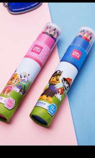 Instock now !! Paw Patrol Coloring pencils set 12colours brand new