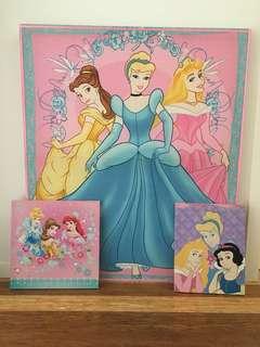 Disney Princess Canvases
